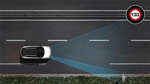 Nopeusvaroitin liikennemerkkien tunnistuksella