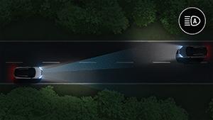 Renault Pure Vision LED -valojärjestelmä kaukovaloautomatiikalla