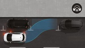 Etu- ja takaosan pysäköintitutkat, peruutuskamera ja Easy Park Assist -pysäköintiavustin