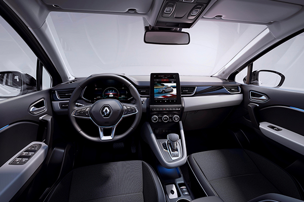 CAPTUR E-TECH Plug-in, Ohjaamo